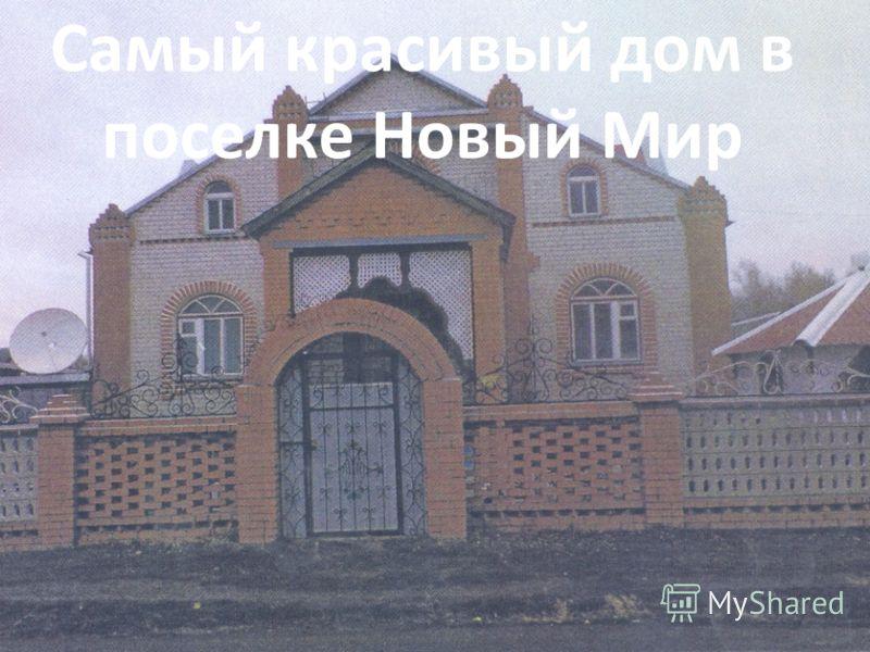 Самый красивый дом в поселке Новый Мир