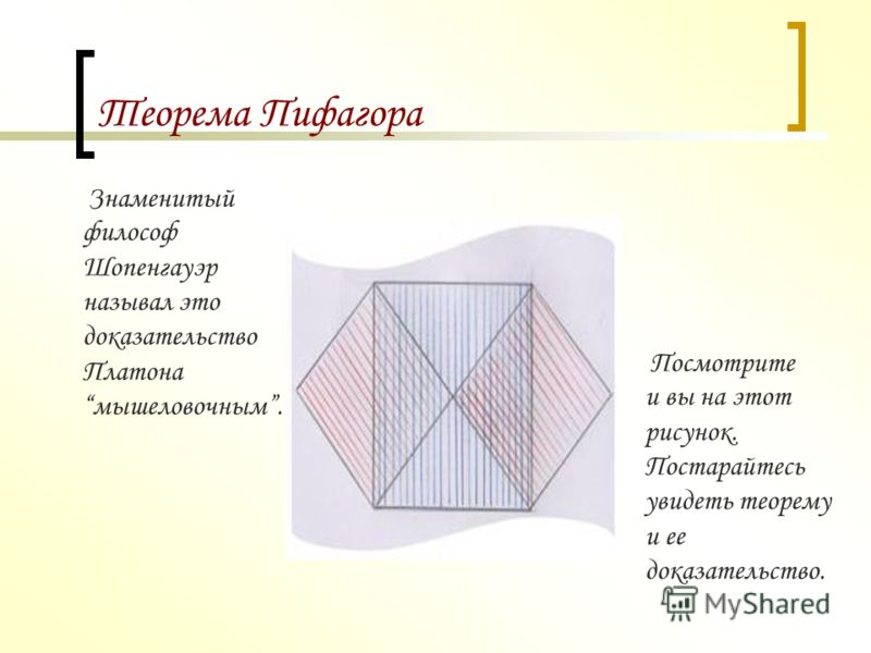 Теорема Пифагора Доказательство методом разложения квадратов на равные части назвали колесо с лопастями.