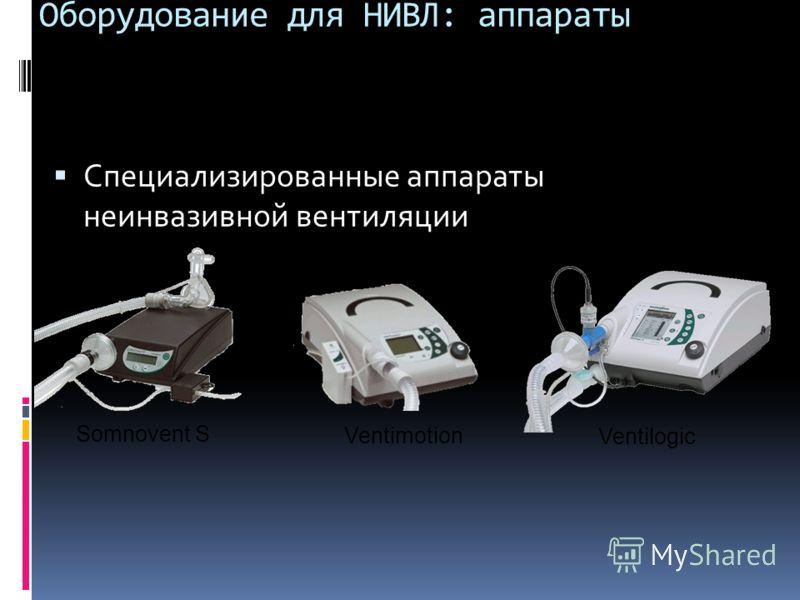 Оборудование для НИВЛ: аппараты Специализированные аппараты неинвазивной вентиляции Somnovent S Ventimotion Ventilogic