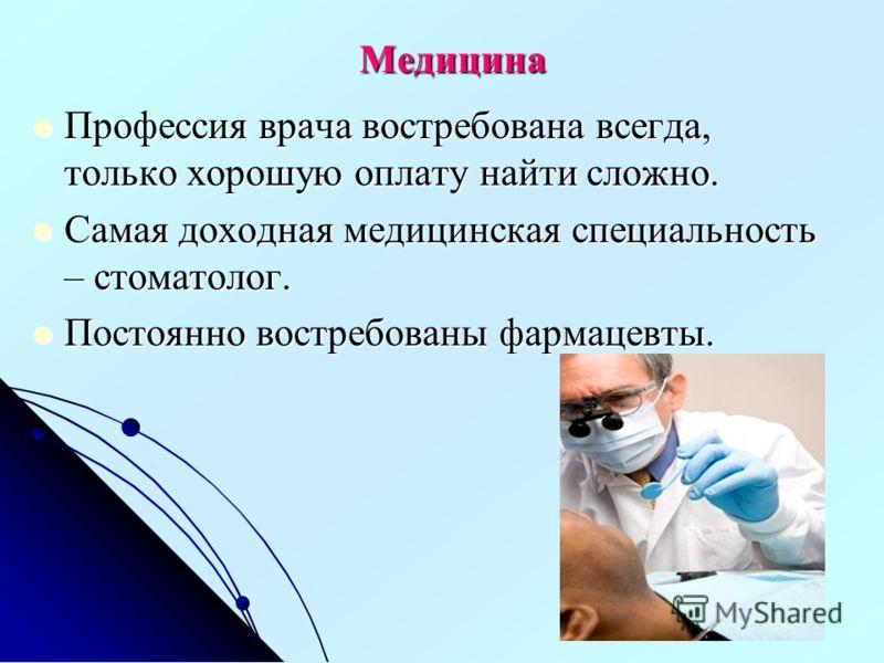 Медицина профессия врача