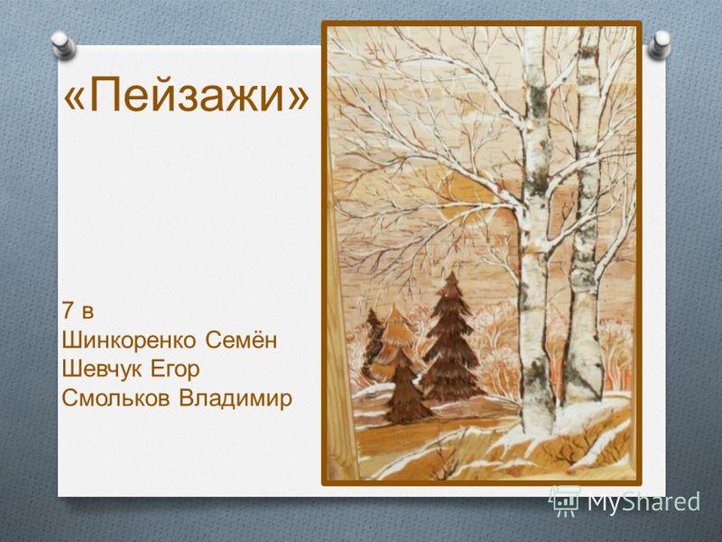 « Пейзажи » 7 в Шинкоренко Семён Шевчук Егор Смольков Владимир