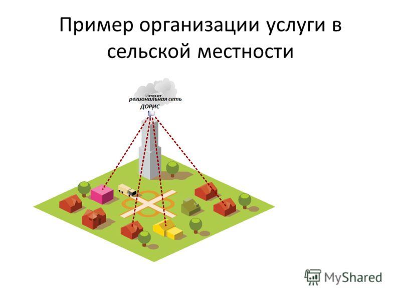 Пример организации услуги в сельской местности