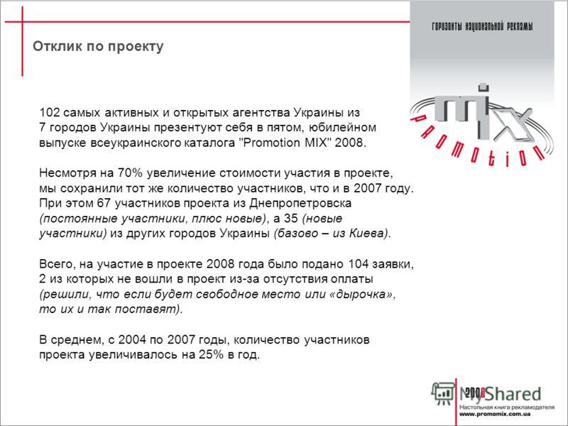 102 самых активных и открытых агентства Украины из 7 городов Украины презентуют себя в пятом, юбилейном выпуске всеукраинского каталога