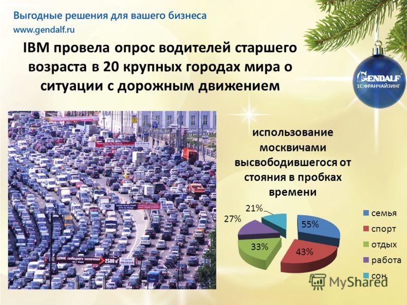 IBM провела опрос водителей старшего возраста в 20 крупных городах мира о ситуации с дорожным движением