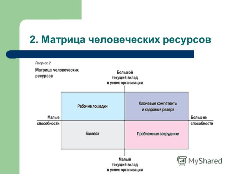 2. Матрица человеческих ресурсов