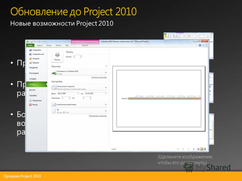 Продажа Project 2010 (Щелкните изображение, чтобы его развернуть)