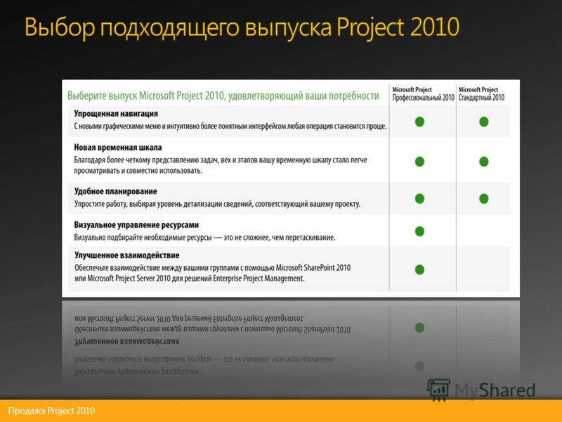 Продажа Project 2010