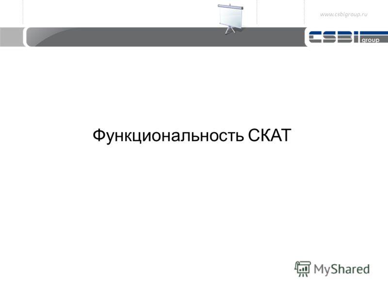 Функциональность СКАТ www.csbigroup.ru