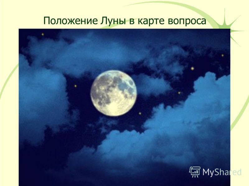 Положение Луны в карте вопроса