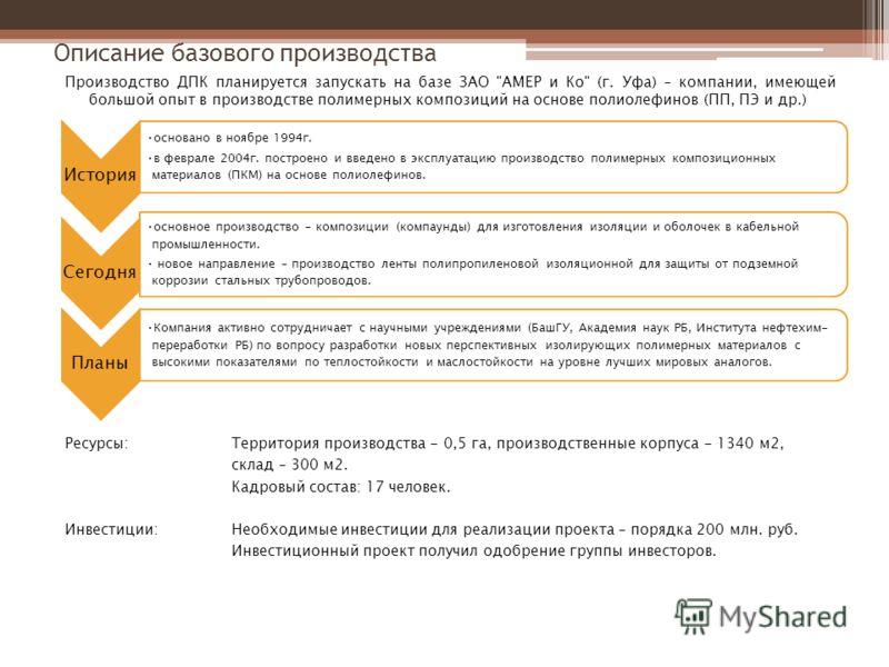 Производство ДПК планируется запускать на базе ЗАО