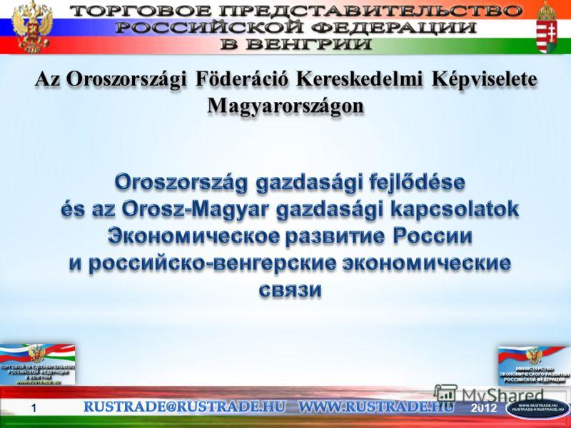 20121 Az Oroszországi Föderáció Kereskedelmi Képviselete Magyarországon
