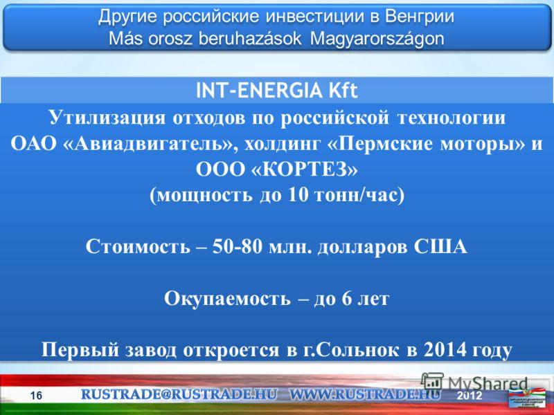 201216 Другие российские инвестиции в Венгрии Más orosz beruhazások Magyarországon Другие российские инвестиции в Венгрии Más orosz beruhazások Magyarországon