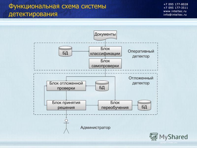 Функциональная схема системы детектирования