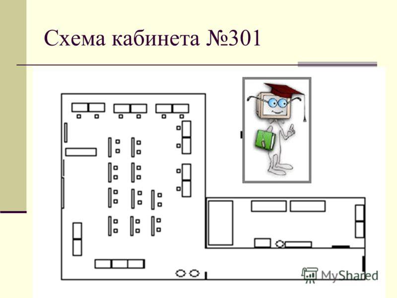 Схема кабинета 301