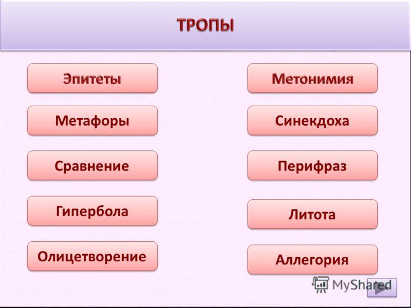 Таблица средства выразительности русского языка