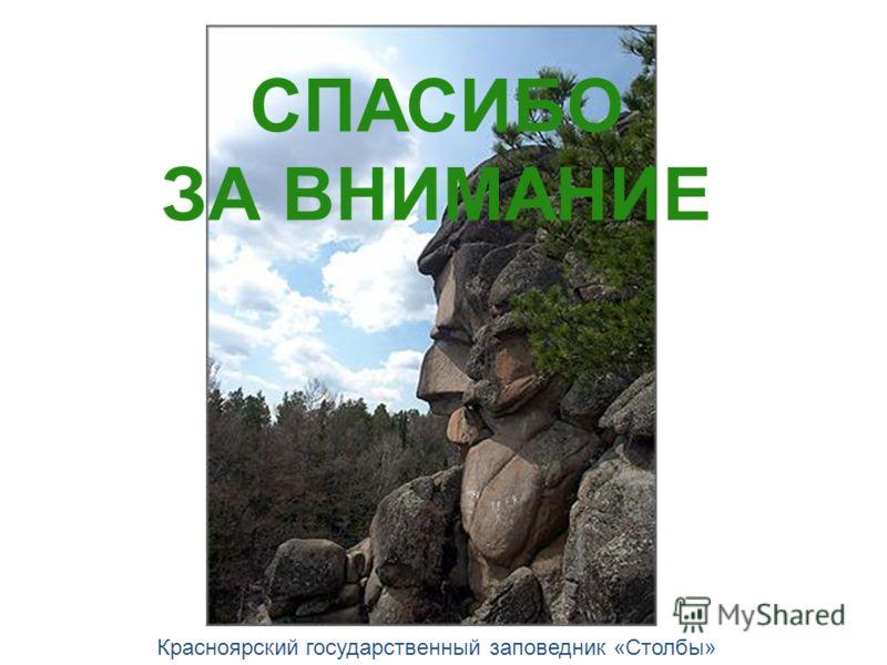 СПАСИБО ЗА ВНИМАНИЕ Красноярский государственный заповедник «Столбы»