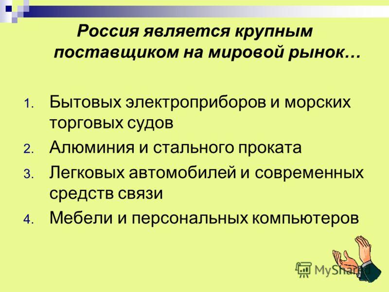 Россия является – 1. Новой индустриальной страной 2. Ключевой развивающейся страной крупного потенциала 3. Страной с переходной экономикой (осуществляющей переход от командно- административной экономики к рыночной)