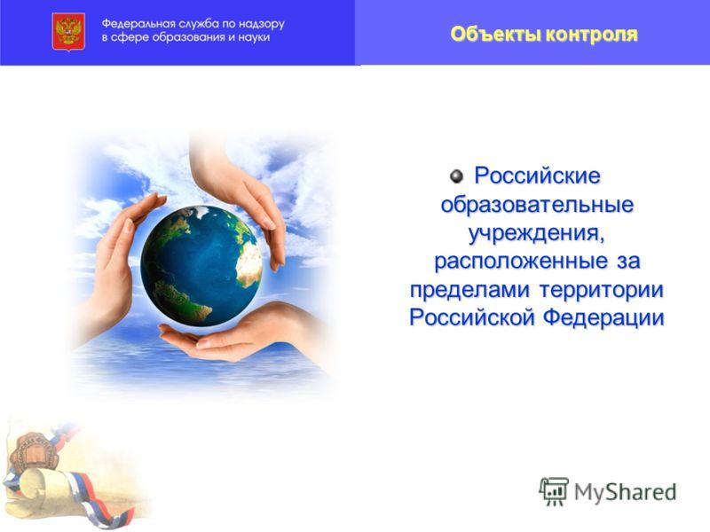 Российские образовательные учреждения, расположенные за пределами территории Российской Федерации Объекты контроля