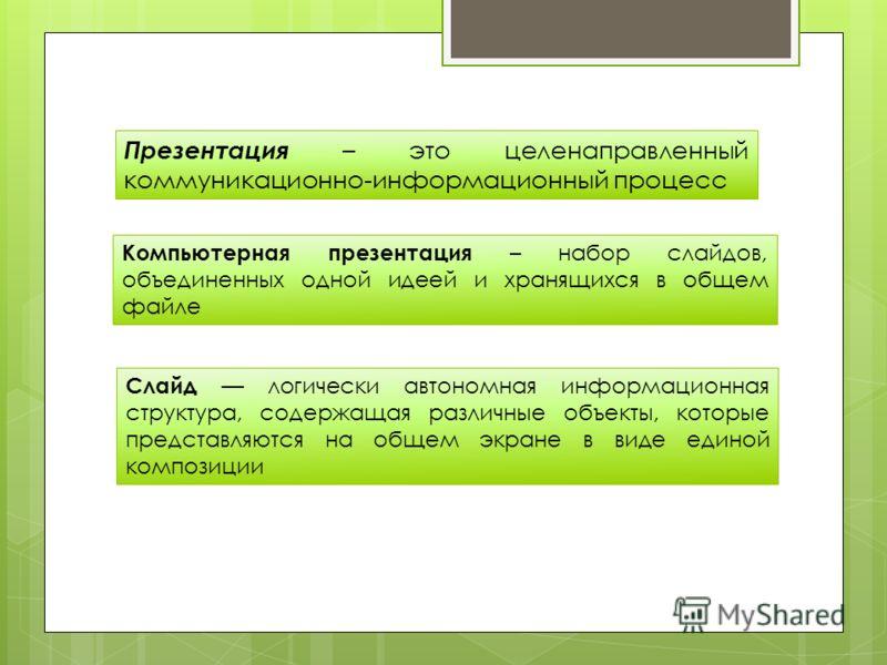 Компьютерные учебные презентации в педагогическом процессе вуза