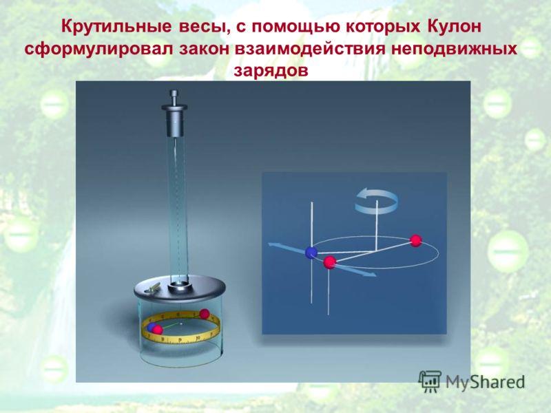 Крутильные весы, с помощью которых Кулон сформулировал закон взаимодействия неподвижных зарядов