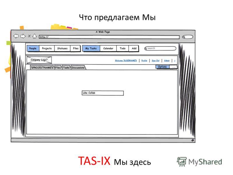 Что предлагаем Мы TAS-IX Мы здесь