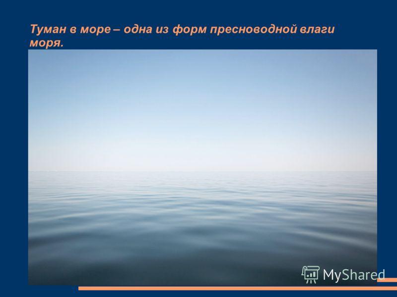 Туман в море – одна из форм пресноводной влаги моря.