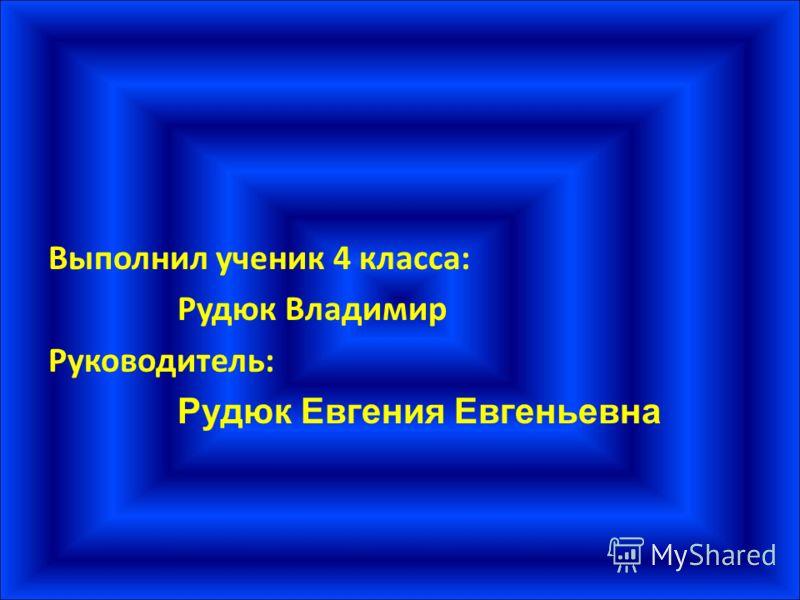 Выполнил ученик 4 класса: Рудюк Владимир Руководитель: Рудюк Евгения Евгеньевна