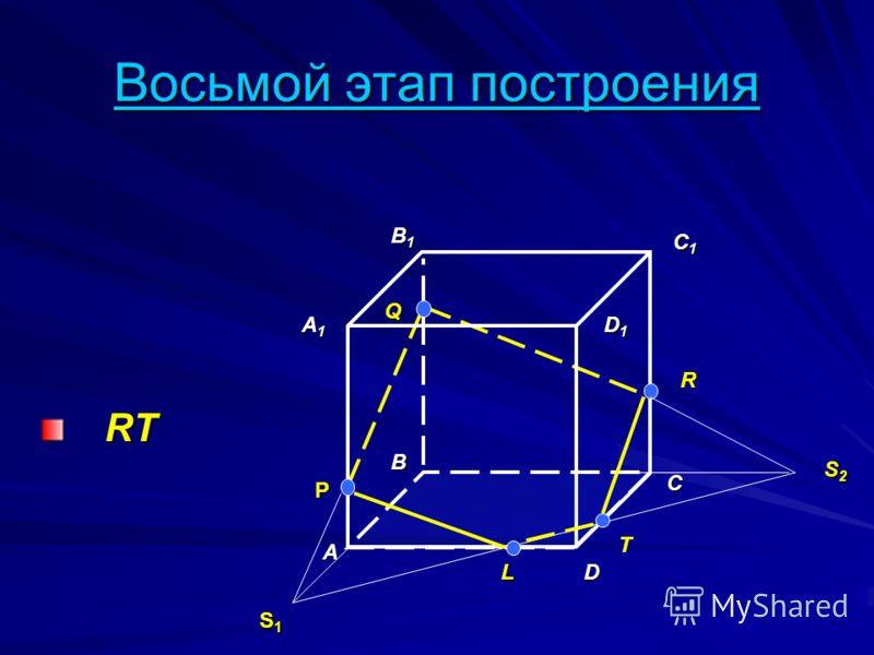 Восьмой этап построения RT RT A B D A1A1A1A1 B1B1B1B1 C1C1C1C1 D1D1D1D1 P Q R S1S1S1S1 C L T S2S2S2S2