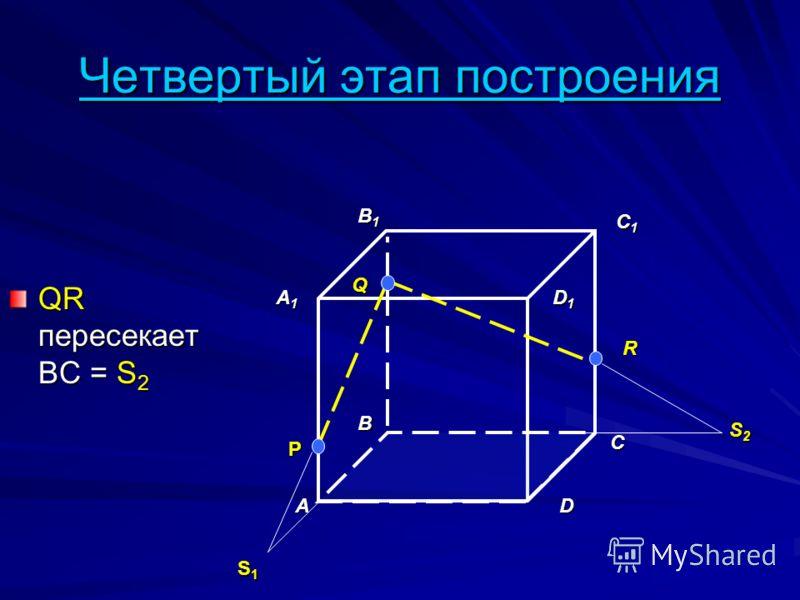 Четвертый этап построения QR пересекает BC = S 2 A B D A1A1A1A1 B1B1B1B1 C1C1C1C1 D1D1D1D1 P Q R S1S1S1S1 S2S2S2S2 C