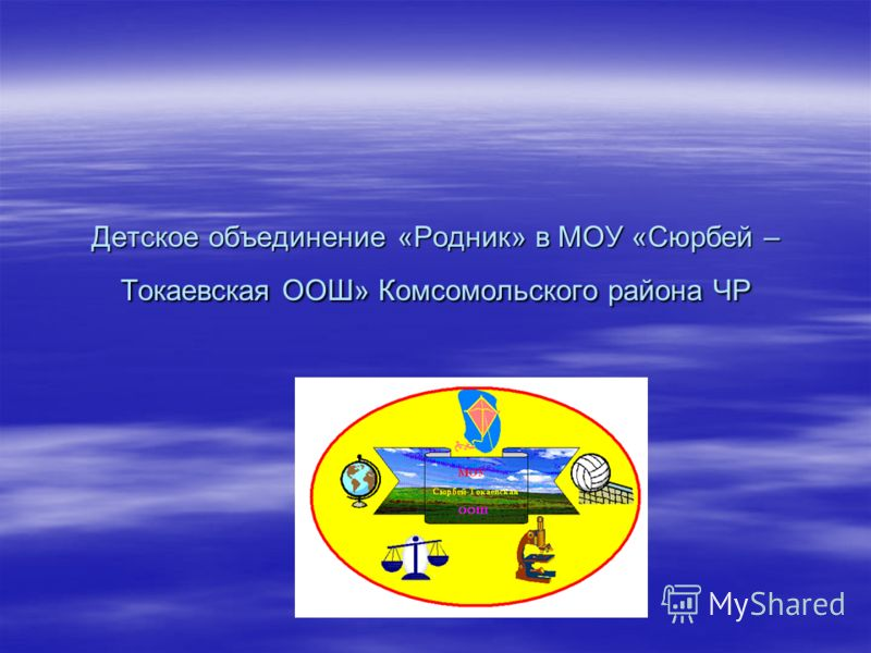 Детское объединение «Родник» в МОУ «Сюрбей – Токаевская ООШ» Комсомольского района ЧР