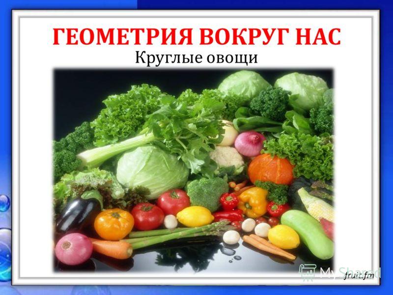 ГЕОМЕТРИЯ ВОКРУГ НАС Круглые овощи fruit.fm