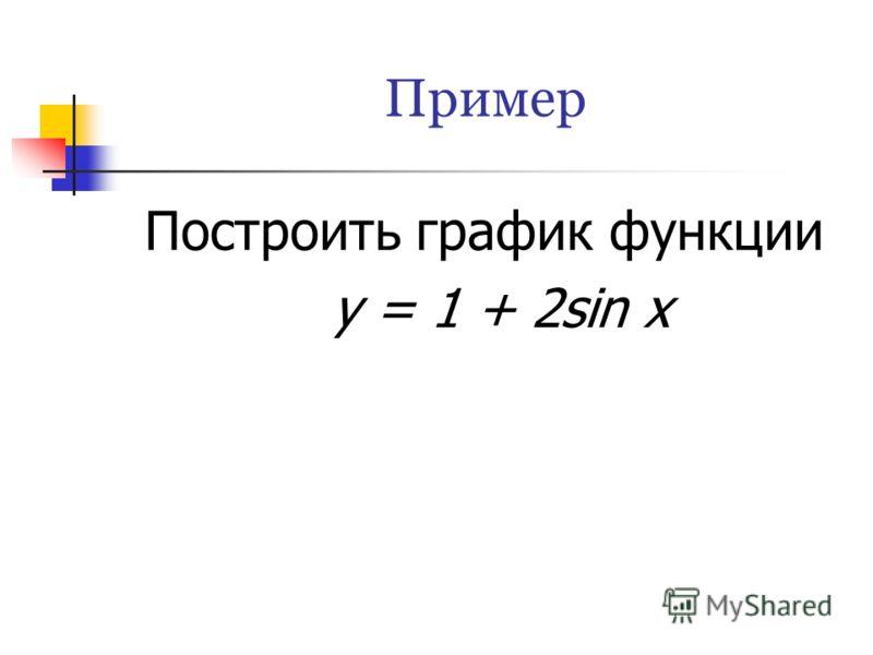 Пример Построить график функции у = 1 + 2sin x