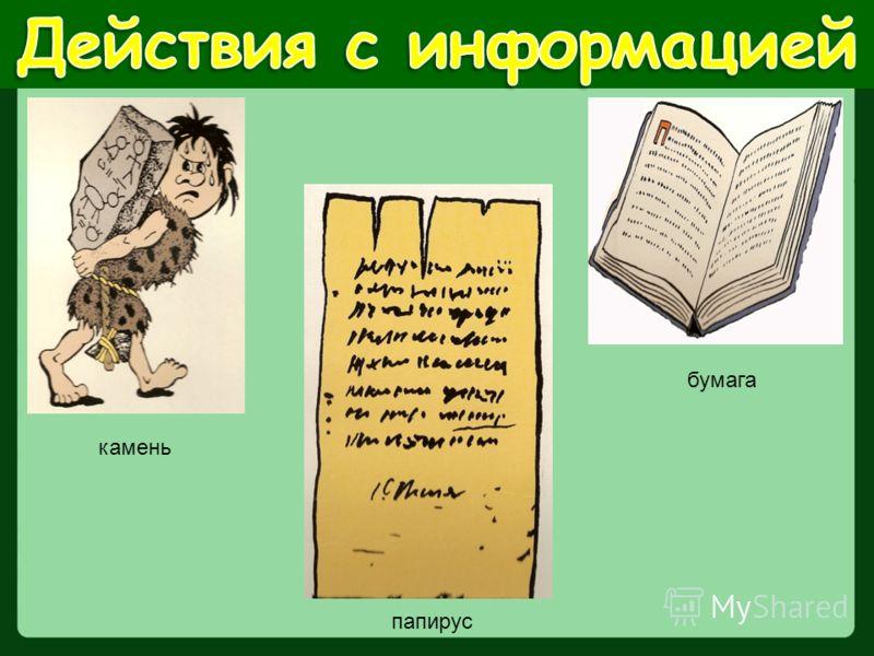камень папирус бумага