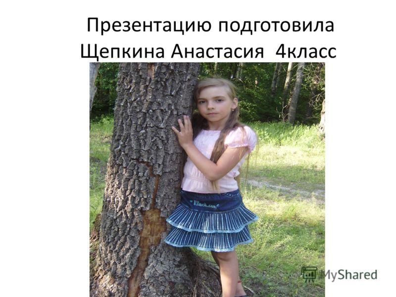 Презентацию подготовила Щепкина Анастасия 4класс