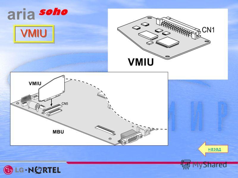 назад aria soho VMIU