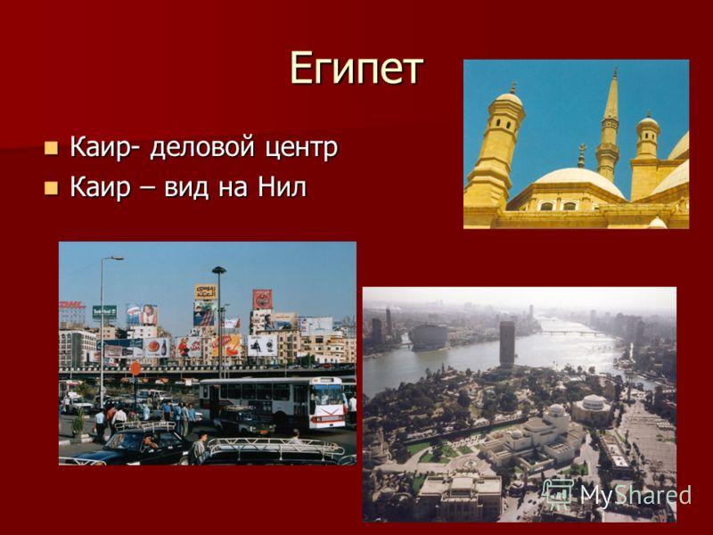 Египет Каир- деловой центр Каир- деловой центр Каир – вид на Нил Каир – вид на Нил