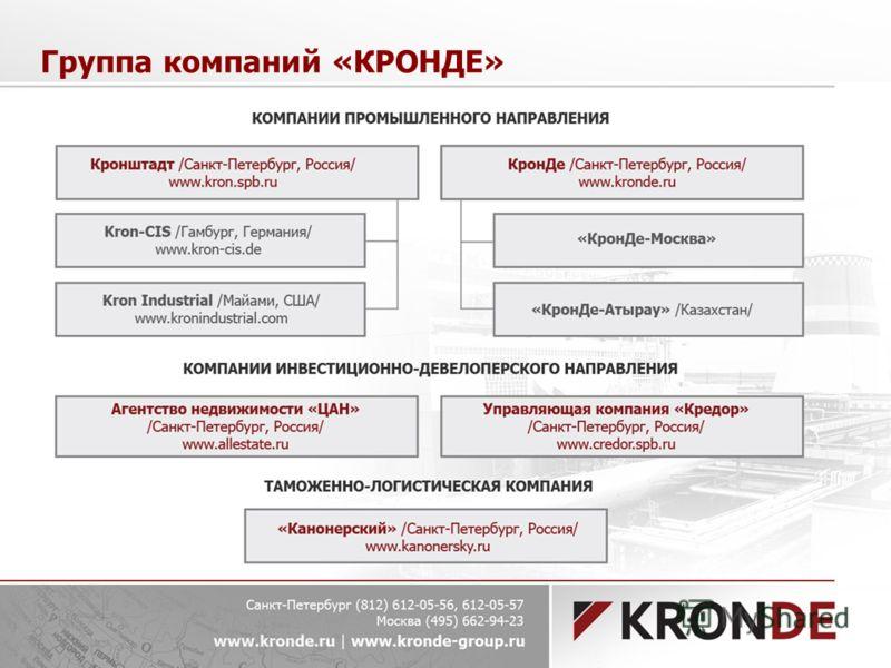 Группа компаний «КРОНДЕ»