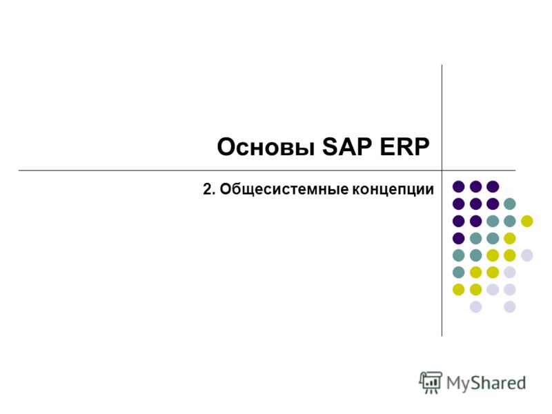 Основы SAP ERP 2. Общесистемные концепции
