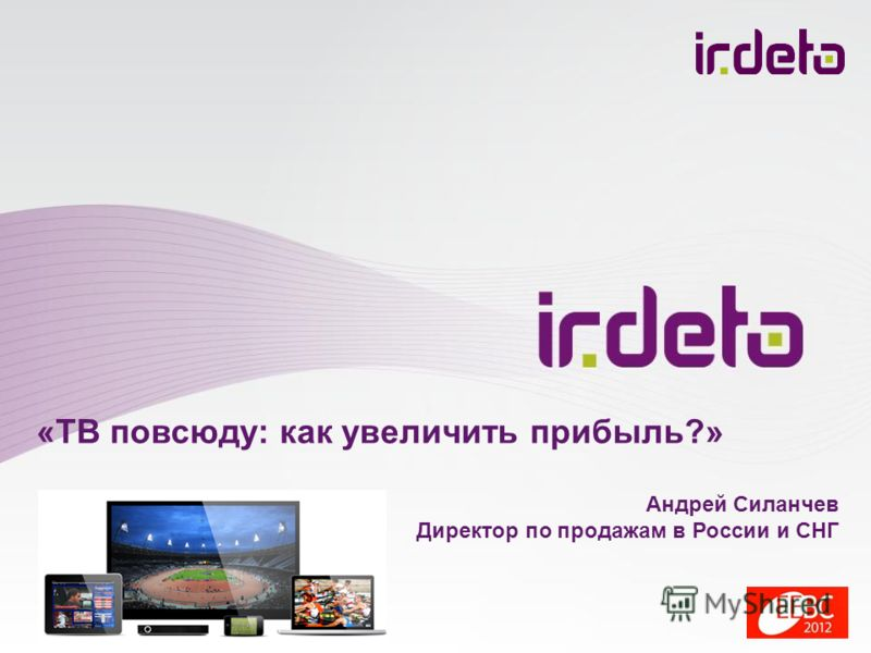 «ТВ повсюду: как увеличить прибыль?» Андрей Силанчев Директор по продажам в России и СНГ