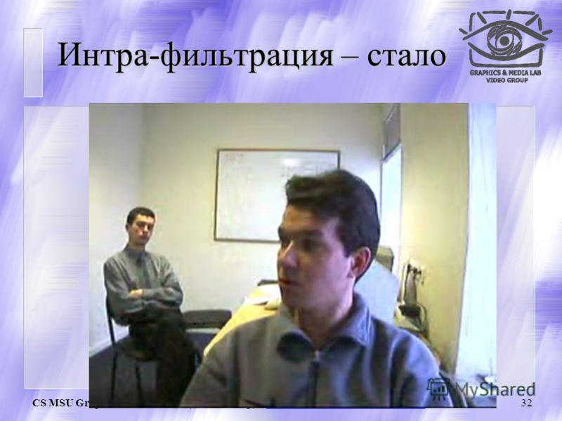 CS MSU Graphics & Media Lab (Video Group) http://www.compression.ru/video/31 Интра-фильтрация – было