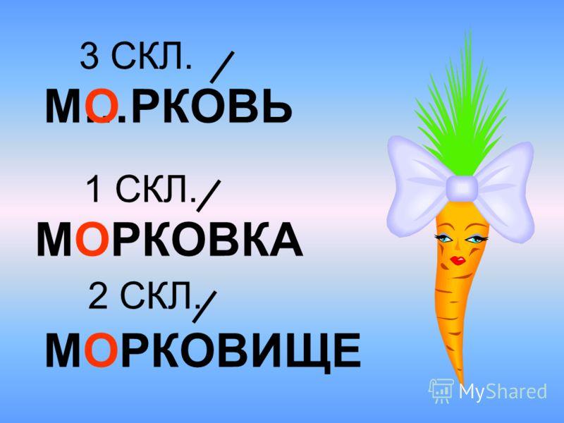 М…РКОВЬ МОРКОВИЩЕ О 3 СКЛ. 2 СКЛ. 1 СКЛ. МОРКОВКА