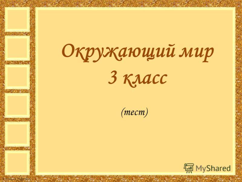FokinaLida.75@mail.ru Окружающий мир 3 класс (тест)