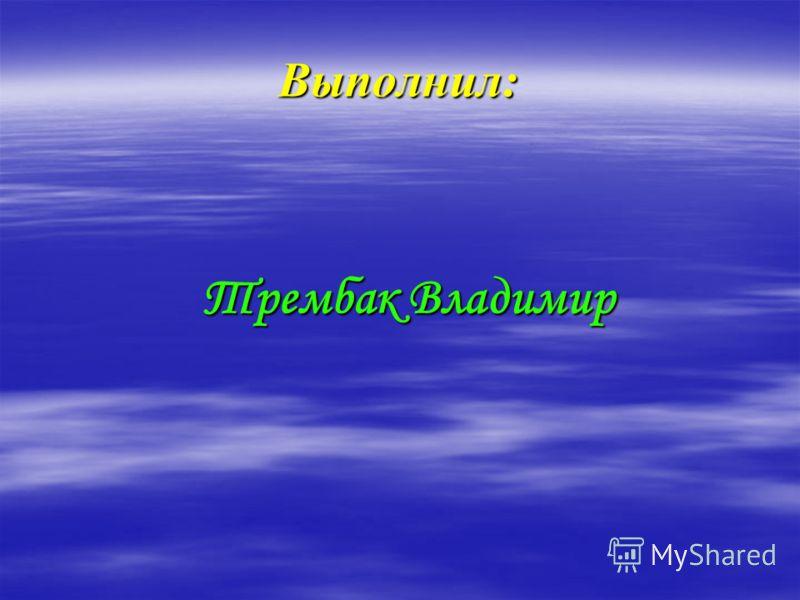Выполнил: Трембак Владимир