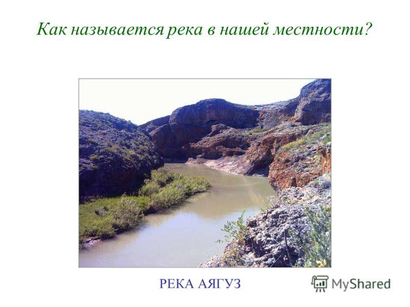Как называется река в нашей местности? РЕКА АЯГУЗ