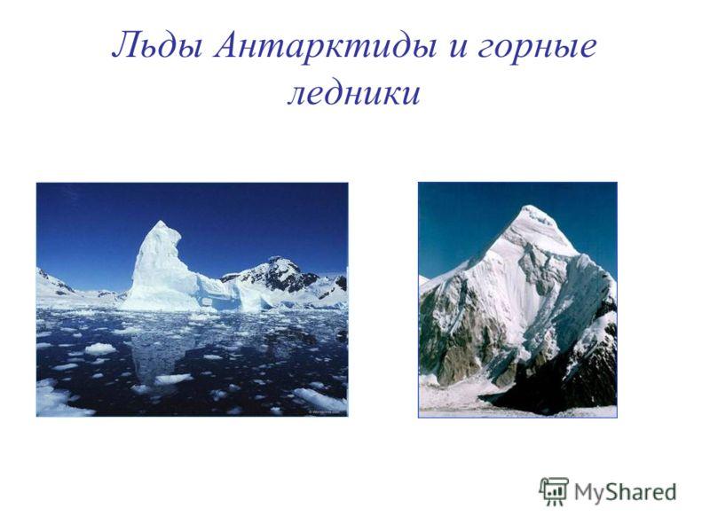 Льды Антарктиды и горные ледники