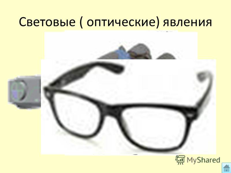 Световые ( оптические) явления