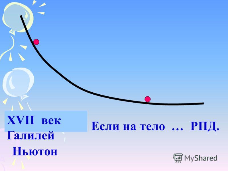 XVII век Галилей Ньютон Если на тело … РПД.