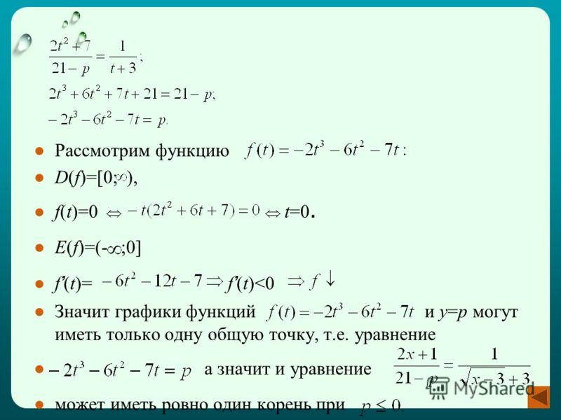 Рассмотрим функцию D(f)=[0; ), f(t)=0 t=0. E(f)=(- ;0] f (t)= f (t)