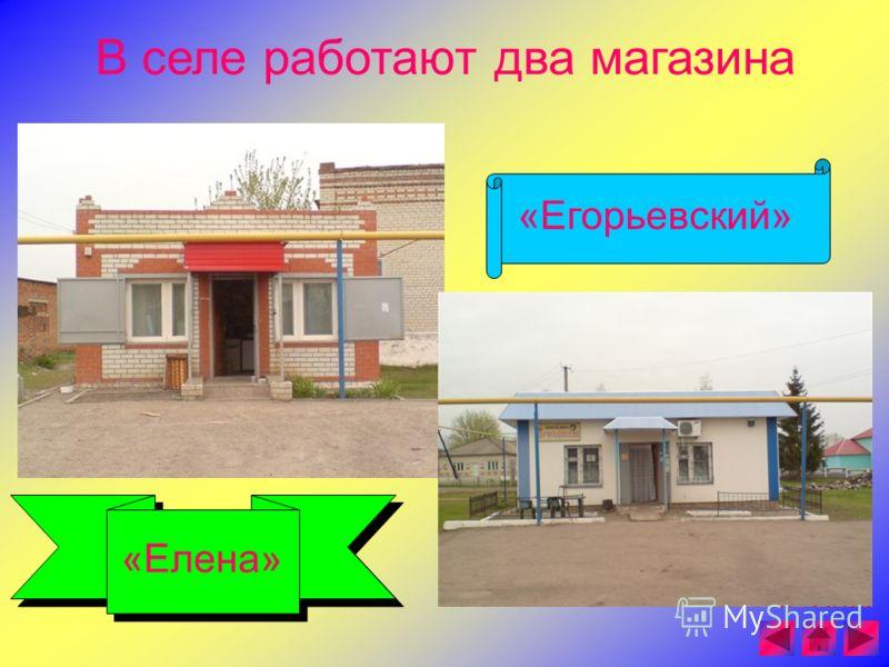 В селе работают два магазина «Елена» «Егорьевский»