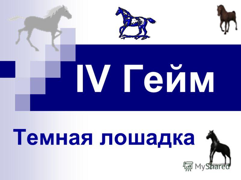 IV Гейм Темная лошадка